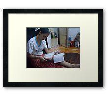 Reading - Alex Framed Print