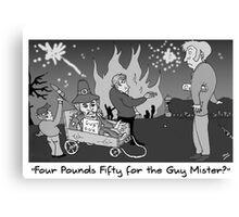 Currie and Balerno News November 2011 Cartoon Canvas Print
