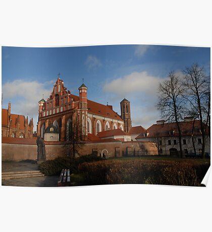 Bernardinai church, Vilnius Poster