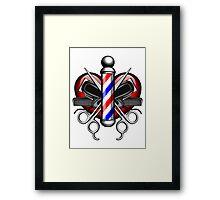 Heart Barbers Framed Print