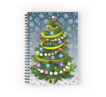 Christmas tree & snow Spiral Notebook