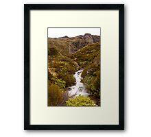 Ice Melt Waterfall Framed Print