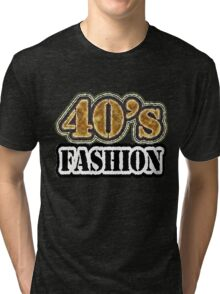 Vintage 40's Fashion - T-Shirt Tri-blend T-Shirt