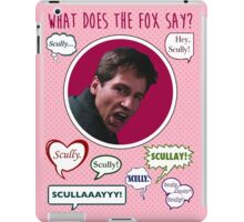 What does the Fox (Mulder) say? iPad Case/Skin