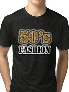 Vintage 50's Fashion - T-Shirt Tri-blend T-Shirt