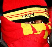 Spanish Supporter Soccer world cup 2010 by Greg Parfitt