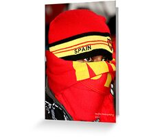 Spanish Supporter Soccer world cup 2010 Greeting Card