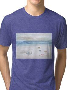 Boats at low tide. Tri-blend T-Shirt