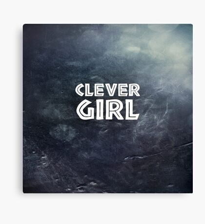 Clever Girl Canvas Print