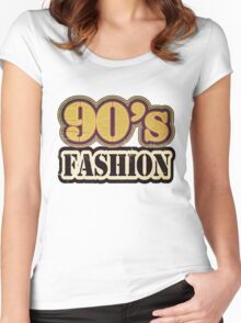 Vintage 90's Fashion - T-Shirt Women's Fitted Scoop T-Shirt