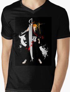 Bleach: Ichigo Kurosaki Giclee Art Print Mens V-Neck T-Shirt