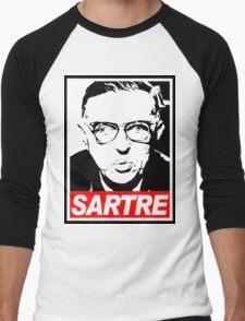 Jean-Paul Sartre Men's Baseball ¾ T-Shirt
