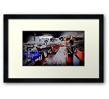 psychedelia in postmodernist decay Framed Print