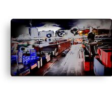 psychedelia in postmodernist decay Canvas Print