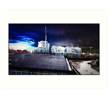 postmodernism in a  psychedelic gothic sky Art Print