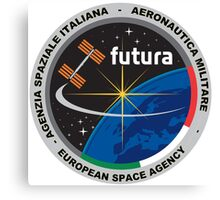 Futura Mission of ESA to the ISS Logo Canvas Print