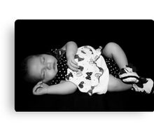Little Doll B&W Version Canvas Print