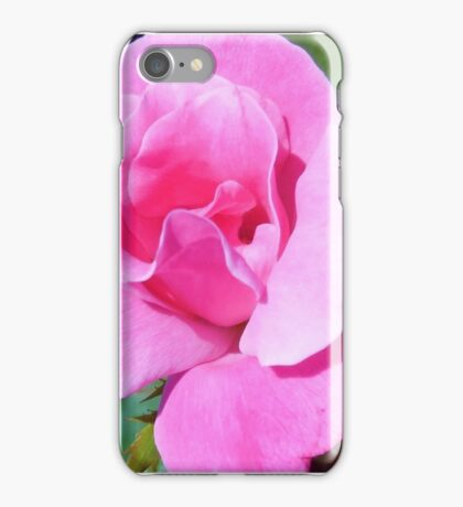 A Single Pink Rose iPhone Case/Skin