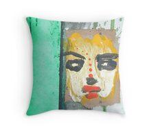 green man war mask for earth 6 Throw Pillow