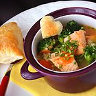 Salmon, Pearl Barley and Broccoli Soup by SmoothBreeze7