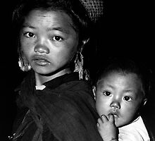 Hmong Girl & Baby by Karl Willson
