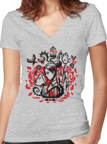 Princess of the Rose Women's Fitted V-Neck T-Shirt