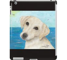 Yellow Labrador Lab Dog Beach Cathy Peek iPad Case/Skin