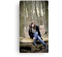 Sat on the Tree Trunk Pondering! Canvas Print