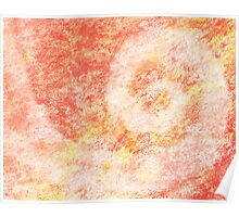 Pink Swirl Abstract Painting Poster