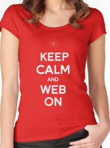 Keep Calm and Web On Women's Fitted Scoop T-Shirt