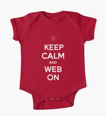 Keep Calm and Web On One Piece - Short Sleeve