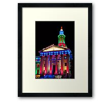 Denver City and County Building at Christmas Framed Print