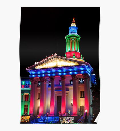Denver City and County Building at Christmas Poster