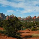Overlooking a piece of Sedona, Arizona by David  Hughes
