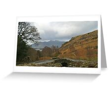 Ashness Bridge Borrowdale (Lake District National Park) Greeting Card