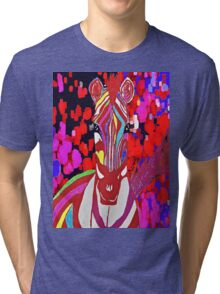I Dreamed About A Red Zebra Tri-blend T-Shirt