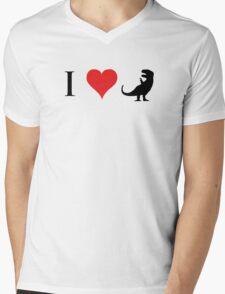 I Love Dinosaurs (small) Mens V-Neck T-Shirt