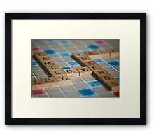 In the middle of it all... Framed Print