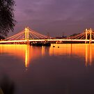 Albert Bridge at Dusk by Martin Griffett