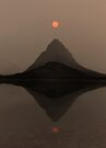 Sunset Over Mount Grinnell and Swiftcurrent Lake. by Alex Preiss