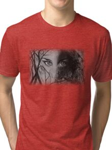 Mysterious Female Tri-blend T-Shirt