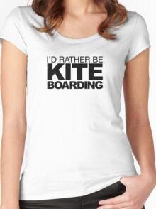 I'd rather be Kite Boarding Women's Fitted Scoop T-Shirt