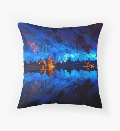 Symphony of Blues Throw Pillow