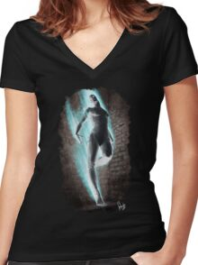 Gothic 227 Women's Fitted V-Neck T-Shirt