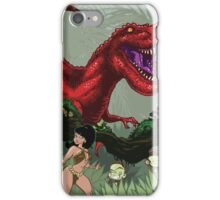 T-Rex Goes Hunting iPhone Case/Skin