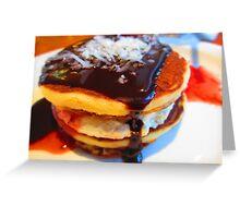 Pancake drool Greeting Card