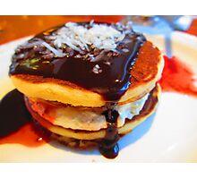 Pancake drool Photographic Print