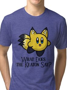 What Does He Say? Tri-blend T-Shirt