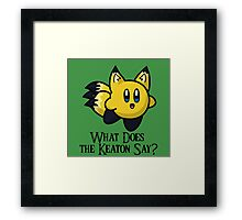 What Does He Say? Framed Print