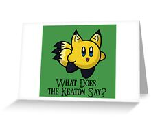 What Does He Say? Greeting Card
